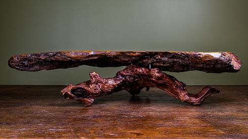 Design Coffee Table from Salvaged Coromandel Kauri wood, made by Tony Howse, Kauri Cliff Art Gallery, Whangamata, New Zealand