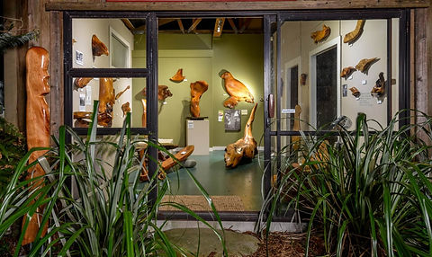 Visit Kauri Cliff Art Gallery in Whangamata, New Zealand and view beautiful sculptures made from Salvaged Coromandel Kauri.
