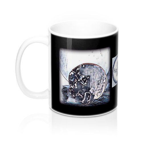 Moonlight Crystal Skull Coffee Mug Between Heaven and Hell Boutique Home Decor