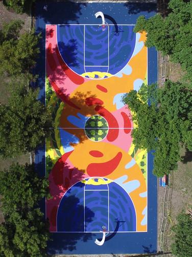 COVL X CROWN ROYAL Basketball court