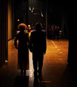 Gary and Joanie backstage