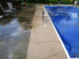 Power Wash Pool Deck