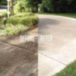 Driveway Power Wash Before And After