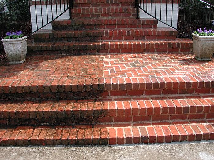 Brick Step Power Wash