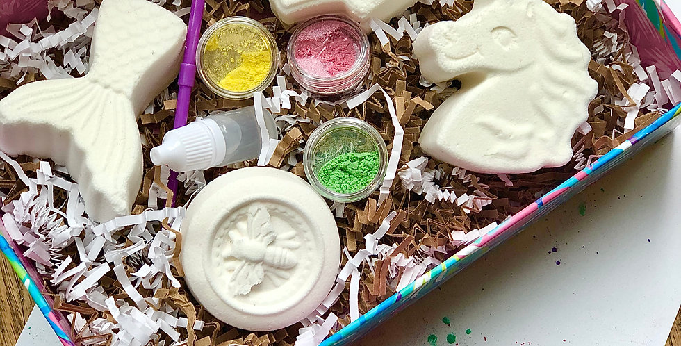 Paint Your Own Bath Bomb sets