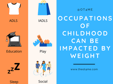 How does weight impact your kid's occupations?