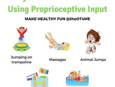 Ways to Calm Kids Down Using Proprioceptive Input