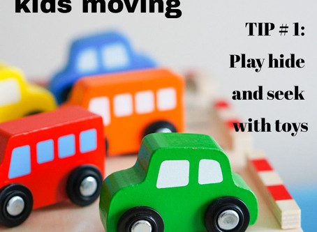 """Playing hide and seek with toys - Post 1/5 of the """"Get Your Kids Moving"""" Series"""