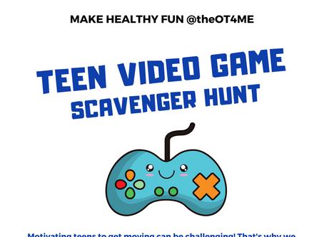 Teen Video Game Scavenger Hunt