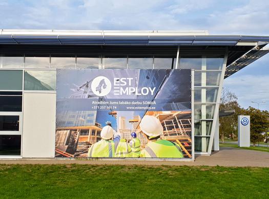 Lielformāta banera izgatavošana un uzstādīšana - EST Employ
