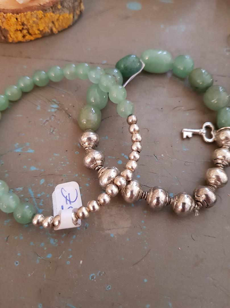 Bracelets d'aventurine verte