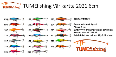 TUMEfishing värikartta 6cm 2021 uusi.pn