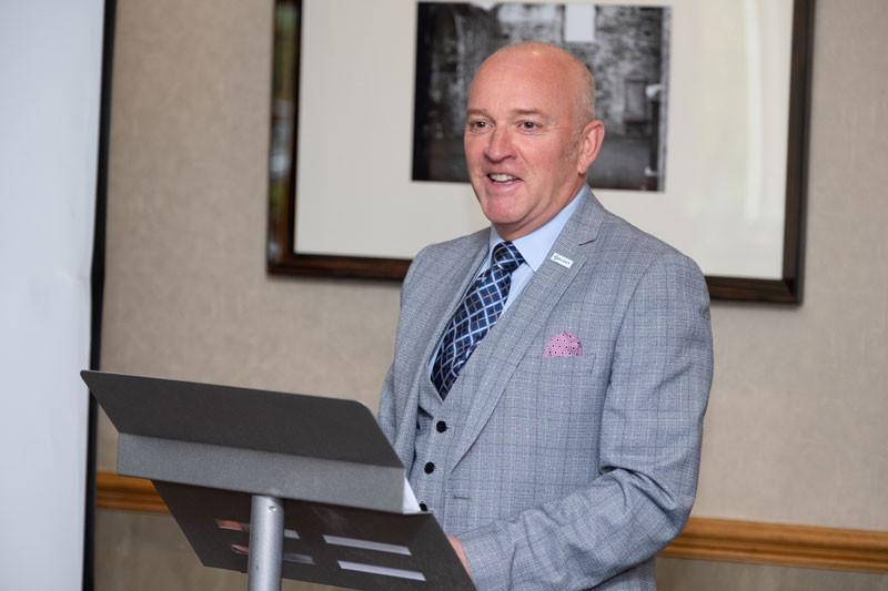 Dave Forrester delivers his presentation