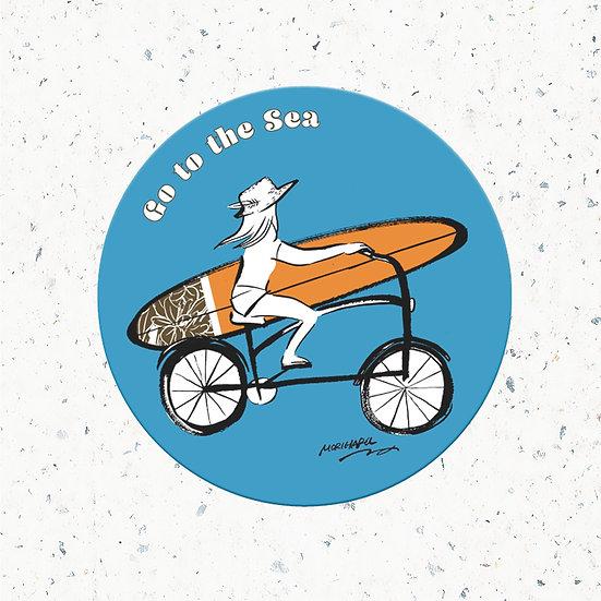 オリジナルステッカー 「go to sea」/Original sticker