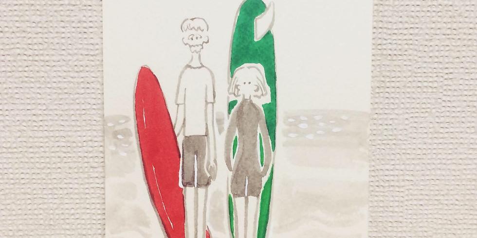 8月12日(月・祝) 「森 温のイラスト描きますよワークショップ」