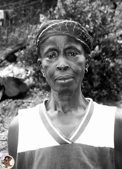 Ghanian Elder Outside
