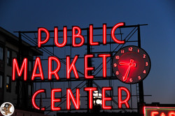 Pike Place Marker in Seattle