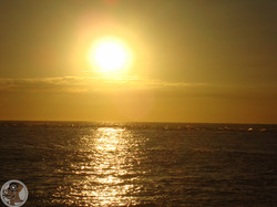Sun Setting Over the Pacific Ocean