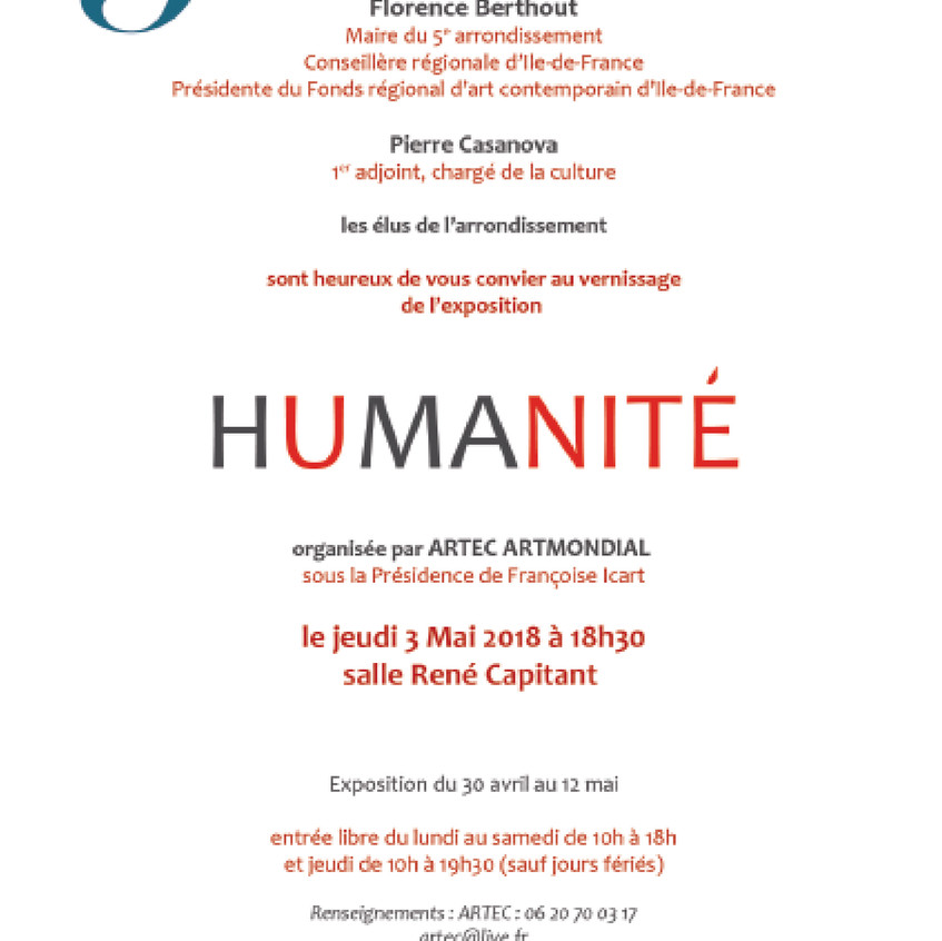 Invitation HUMANITE mairie 5e