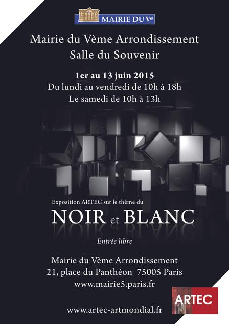 Exposition NOIR ET BLANC Mairie du Vème arrdt, Place du Panthéon, 75005 Paris Salle du Souvenir du 0