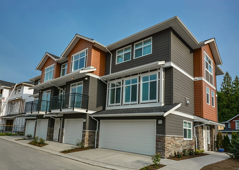 Brand new residential triplex house on t