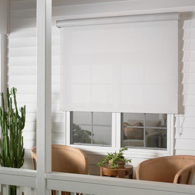 Exterior Solar Shade with Outdoor Casett