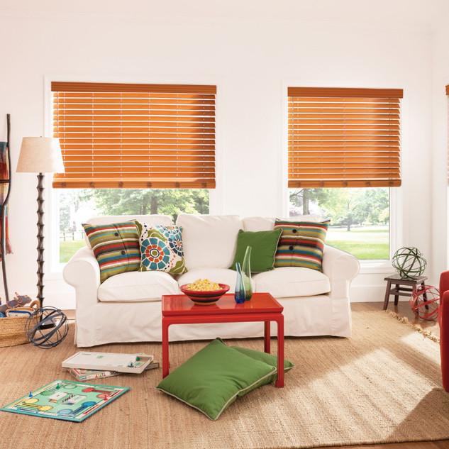 Premium Faux Wood Blinds with Cordless L
