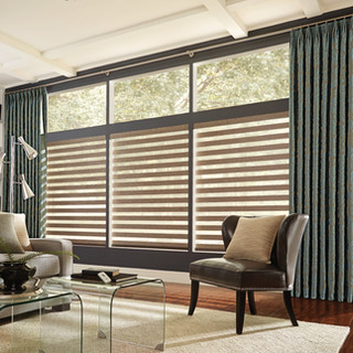 Layered Shades with Motorized Lift 2
