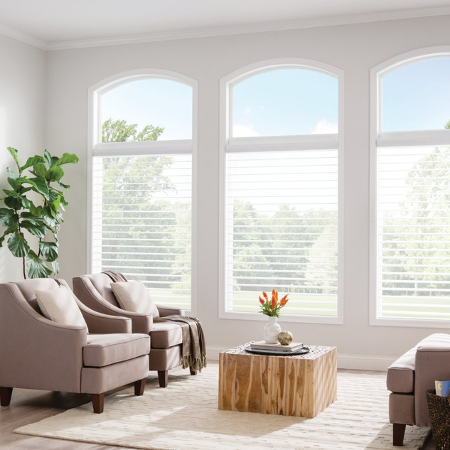 3in Sheer Shades with Continuous-Loop Li