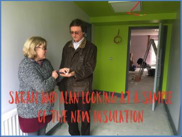 Alan and Sarah inspect the insulation
