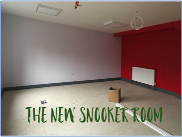 The new snooker room