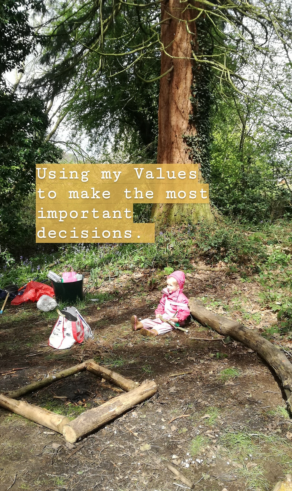 My daughter chilling after a Forest School session