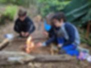 Kids lighting fire at Holiday Club Muddy