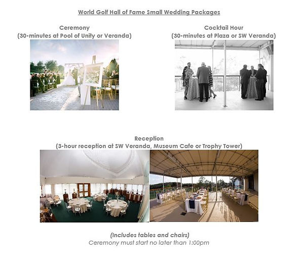 World Golf Hall of Fame Wedding Packages