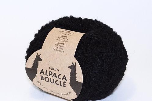 DROPS ALPACA BOUCLÉ  8903 black