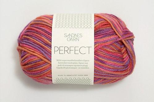SANDNES GARN PERFECT PRINT ROSA/ORANSJE/LILLA PRINT 4528