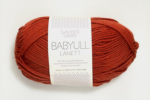 SANDNES GARN Babyull Lannett RUST 3427