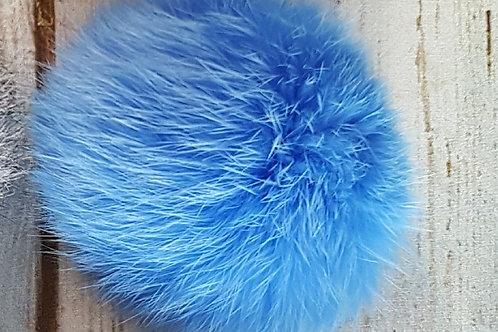 Помпон кролик голубой 9-10см