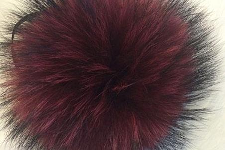 Помпон енот бордовый  18-20 см