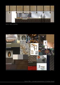 RSL bar pub design concept board