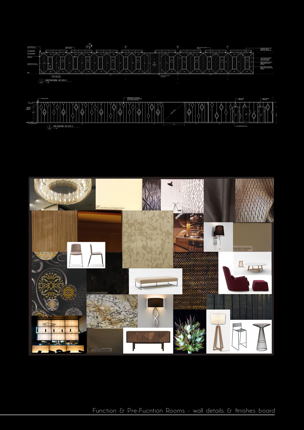 function room design concept board
