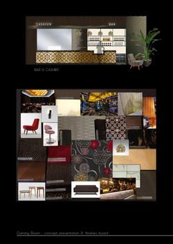 gaming bar pub design concept board
