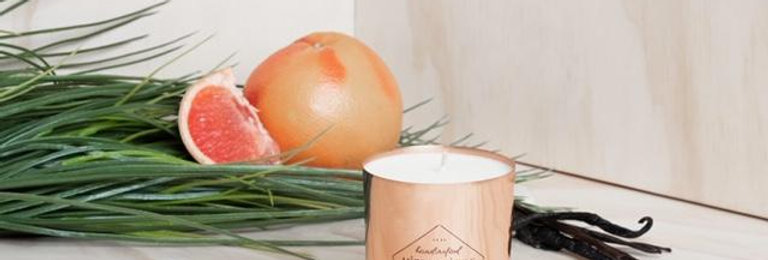Grapefruit + Vanilla Soy Candle