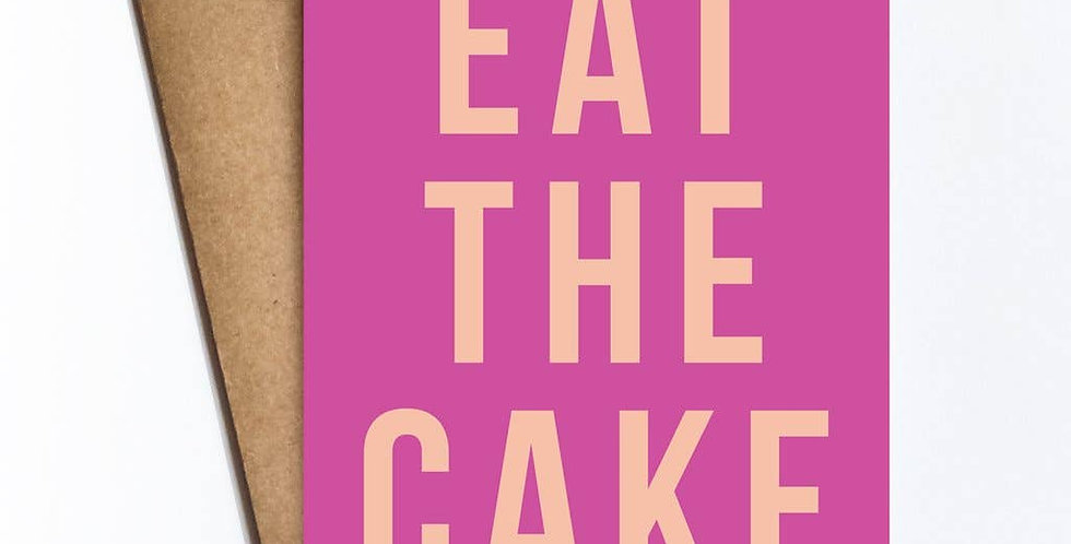 Eat The Cake – Linen Card