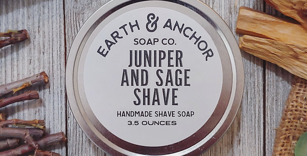 Juniper Sage Shave Soap Tin