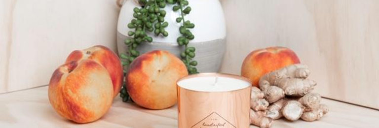 Ginger + Peach Soy Candle