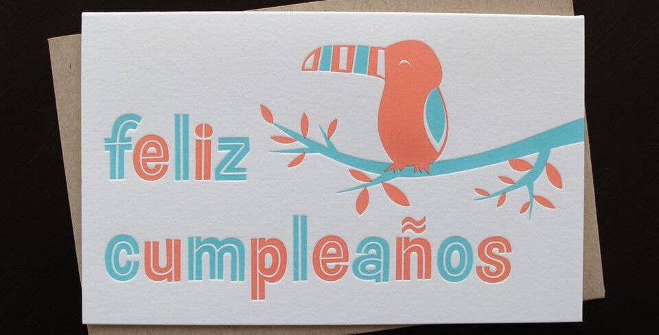 Toucan Feliz Cumpleaños – Letterpressed Card