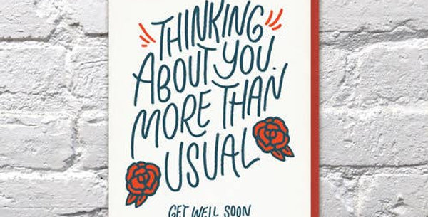 Thinking About You More Than Usual – Letterpressed Card