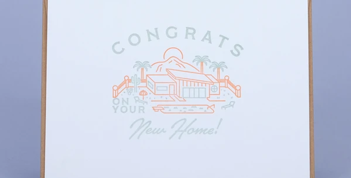 New Home – Letterpressed Card