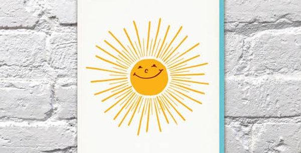 Sunshine – Letterpressed Card